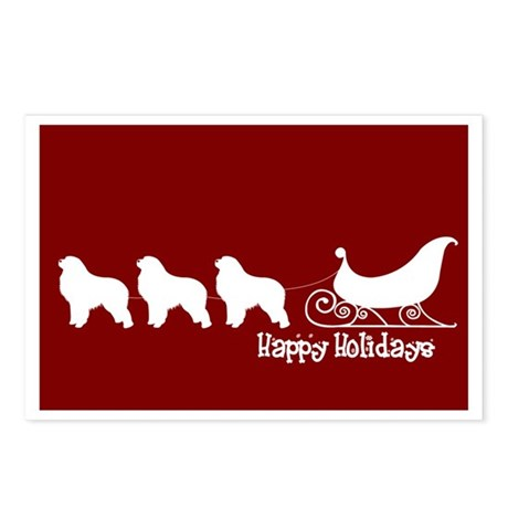 """Great Pyrenees """"Sleigh"""" Postcards (Package of 8)"""