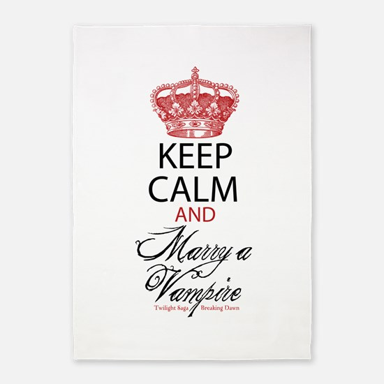 Keep Calm and Marry a Vampire 5'x7'Area Rug