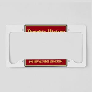 Pyrrhic Victory License Plate Holder