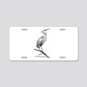 Great Blue Heron Aluminum License Plate