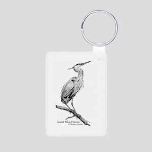 Great Blue Heron Aluminum Photo Keychain