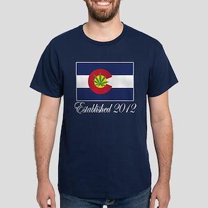 Colorado Cannabis Flag 2012 Dark T-Shirt