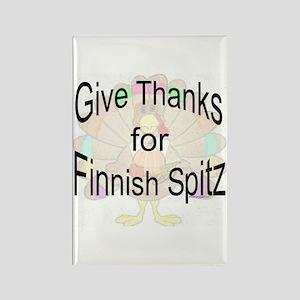 Thanks for Finnish Spitz Rectangle Magnet