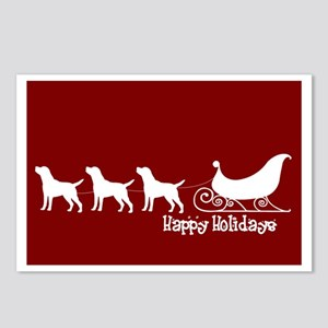 "Lab ""Sleigh"" Postcards (Package of 8)"