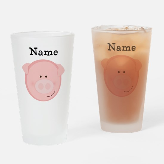 Personalized Pig Drinking Glass