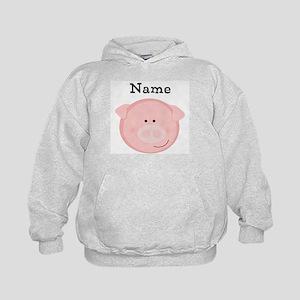 Personalized Pig Kids Hoodie