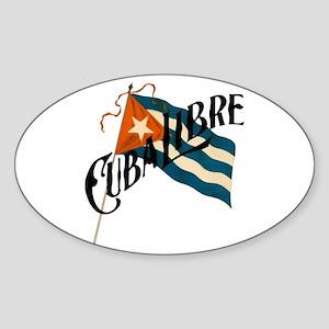 Cuba Libre Sticker (Oval)