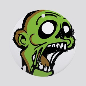 Zombie Head Ornament (Round)