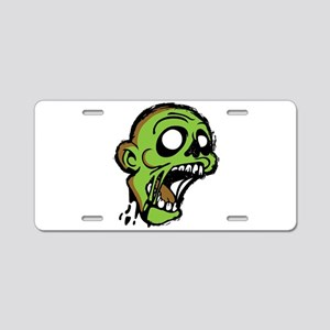 Zombie Head Aluminum License Plate
