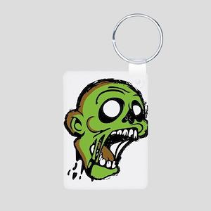 Zombie Head Aluminum Photo Keychain