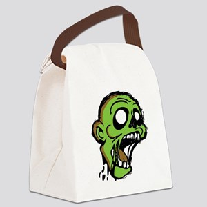 Zombie Head Canvas Lunch Bag