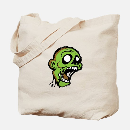 Zombie Head Tote Bag