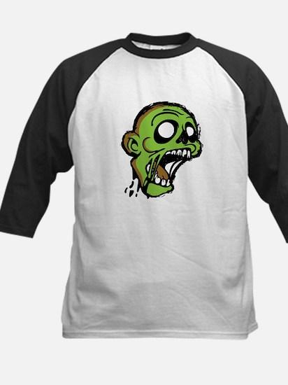 Zombie Head Kids Baseball Jersey