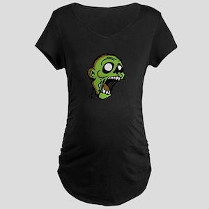 Zombie Head Maternity Dark T-Shirt