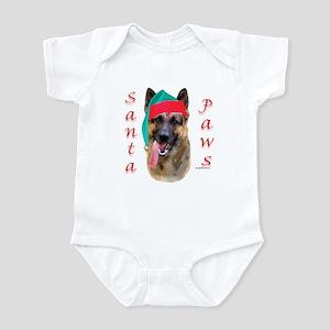 Santa Paws German Shepherd Infant Creeper