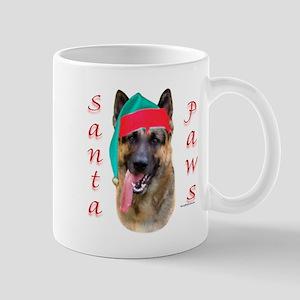 Santa Paws German Shepherd Mug