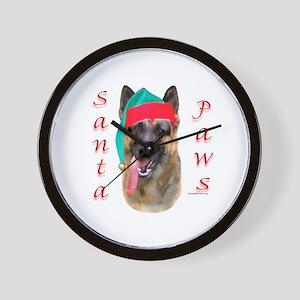 Santa Paws German Shepherd Wall Clock