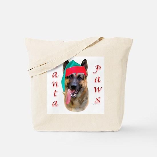 Santa Paws German Shepherd Tote Bag