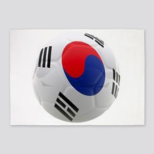 South Korea world cup soccer ball 5'x7'Area Rug