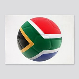South Africa world cup soccer ball 5'x7'Area Rug