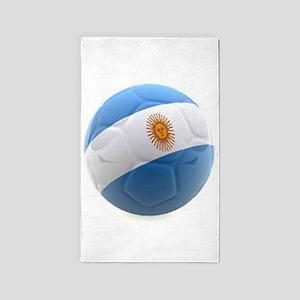 Argentina world cup soccer ball 3'x5' Area Rug