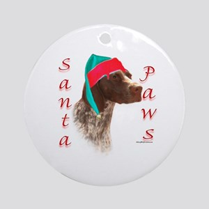Santa Paws GSP Ornament (Round)