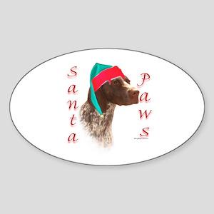 Santa Paws GSP Oval Sticker