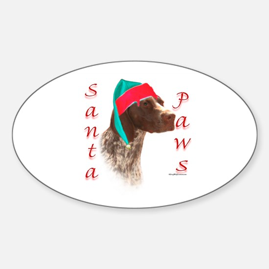 Santa Paws GSP Oval Decal
