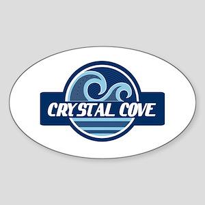 Crystal Cove Surfer Pride Sticker (Oval)