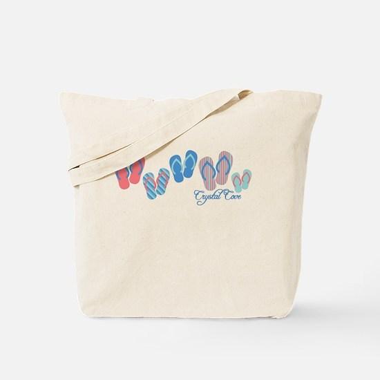 Crystal Cove Sandal Stripe Tote Bag
