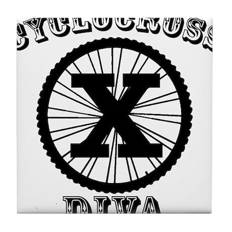 Cyclocross Diva Tile Coaster
