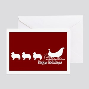"Sheltie ""Sleigh"" Greeting Cards (Pk of 10)"