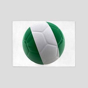 Nigeria World Cup Ball 5'x7'Area Rug