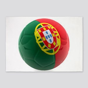 Portugal World Cup Ball 5'x7'Area Rug