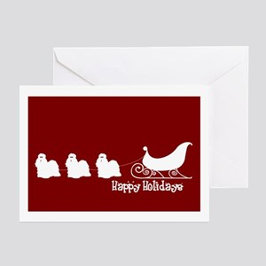"Shih Tzu ""Sleigh"" Greeting Cards (Pk of 10)"