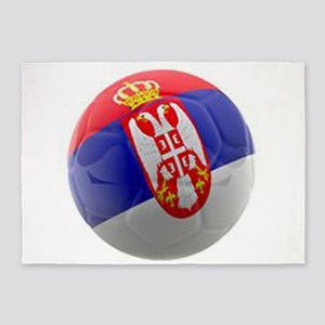 Serbia World Cup Ball 5'x7'Area Rug