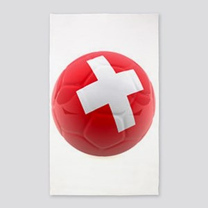 Switzerland World Cup Ball 3'x5' Area Rug
