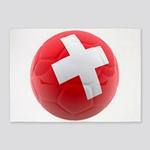 Switzerland World Cup Ball 5'x7'Area Rug
