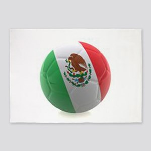 Mexico World Cup Ball 5'x7'Area Rug