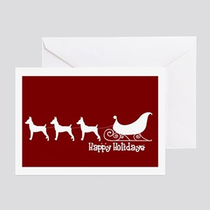 "T Fox Terrier ""Sleigh"" Greeting Card(Pk of 10)"