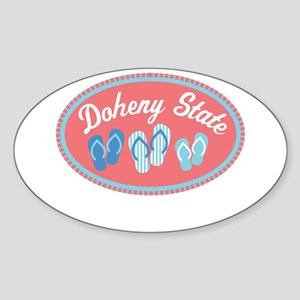Doheny State Sandal Badge Sticker (Oval)