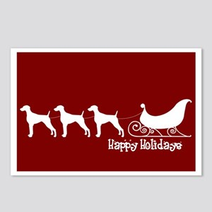 "Weimaraner ""Sleigh"" Postcards (Package of 8)"