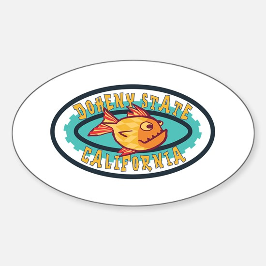 Doheny State Gearfish Patch Sticker (Oval)