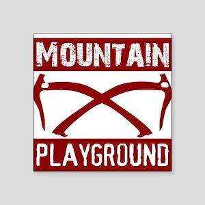 "Mountain Playground Square Sticker 3"" x 3"""