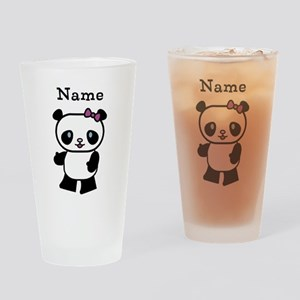 Personalize Panda Girl Drinking Glass