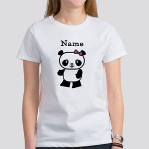 Personalize Panda Girl Women's T-Shirt