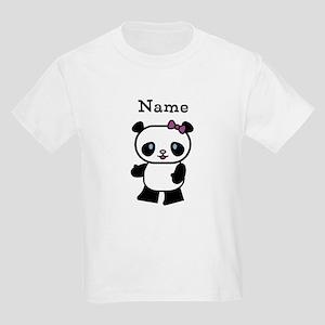Personalize Panda Girl Kids T-Shirt