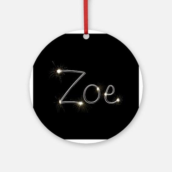 Zoe Spark Ornament (Round)