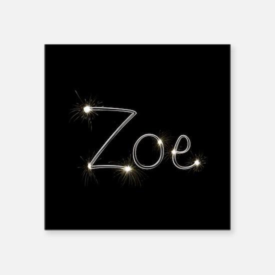 "Zoe Spark Square Sticker 3"" x 3"""