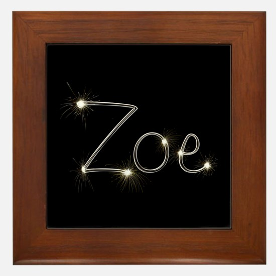 Zoe Spark Framed Tile